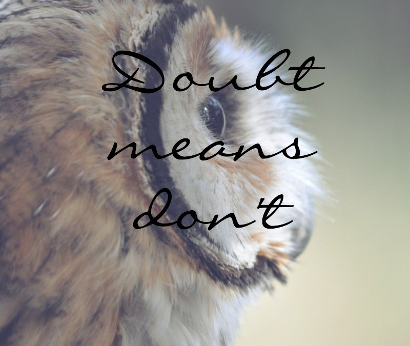 Doubt means don't